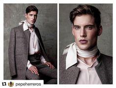 #Repost @pepeherreros with @repostapp  Exclusive editorial for Vanity Teen @vtmag styled @fedepouso grooming @juliana_izidorio shot by me  #pepeherreros #malemodel #makeup #style #suit #model #scarf #editorial #vanityteen