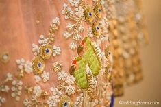 pearl and sequin embroidery. Hand Work Embroidery, Embroidery Dress, Floral Embroidery, Beaded Embroidery, Embroidery Patterns, Indian Textiles, Lesage, Couture Details, Thread Work