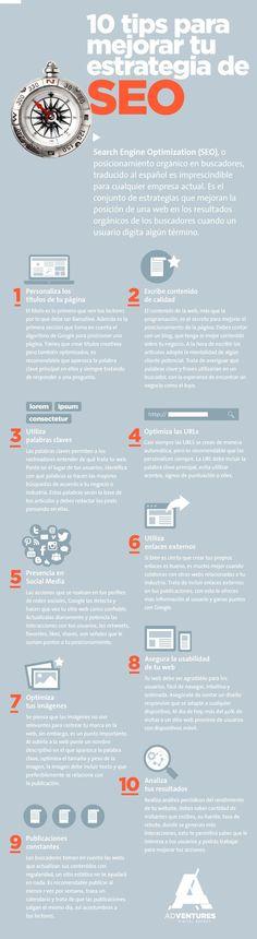 10 excelentes consejos para mejorar tus Estrategias SEO y ganar posicionamiento y visibilidad en Google y otros buscadores.