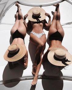 Here's an example of artful photography; three beautifully shaped women enjoying the sun. Sexy Bikini, Bikini Girls, Actrices Sexy, Beach Poses, Mädchen In Bikinis, Summer Photos, Beach Girls, Summer Girls, Summer Beach