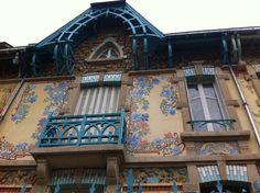 L'une des maisons de l'architecte César Pain rue Félix Faure à Nancy PARCOURS 1 A la lisière du Parc Sainte-Marie