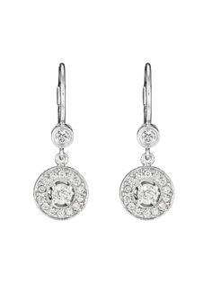 <3 <3 <3 | Penny Preville 18k White Gold Round Dangle Diamond Earrings