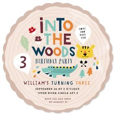 birthday party invitations - into the woods by iamtanya