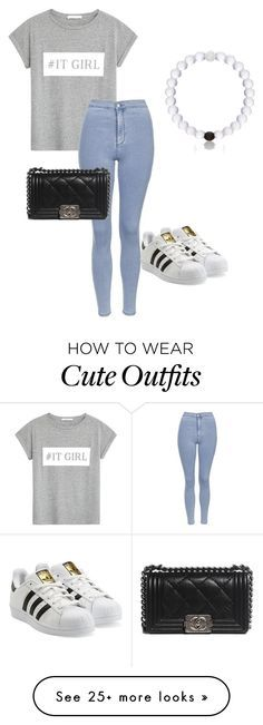 """""""Cute outfit with some trending things"""" by krush-i on Polyvore featuring MANGO, Topshop, adidas Originals, Everest and Chanel"""