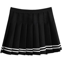 Sweet Preppy Style Pleated Mini Skirt ($17) ❤ liked on Polyvore featuring skirts, mini skirts, pleated miniskirt, preppy skirts, pleated skirt, pleated mini skirt and short mini skirts
