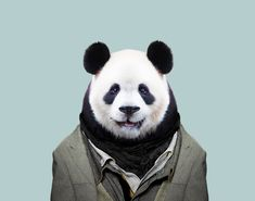 Giant Panda - Artist Spent 3 Years 'Dressing' Zoo Animals Like Humans And The Clothes Fit Unbelievably Well