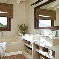 baño de cemento alisado o microcemento