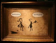 The Big Gold Frame by BANKSY