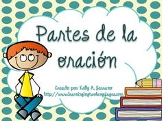 A set of 8 colorful posters depicting the different parts of speech. All written in Spanish, these posters are ideal for whole class, small group or individual instruction. This set includes posters with background and without background (printer friendly)  The set includes: Nouns / Sustantivos Pronouns / Pronombres Verbs Verbos Adjectives / Adjetivos Adverbs / Adverbios Prepositions / Preposiciones Conjunctions / Conjunciones Interjections / Interjecciones
