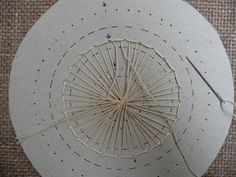 image Tenerife, Dorset Buttons, Lacemaking, Pine Needles, Tatting Patterns, Needle Lace, Lace Embroidery, String Art, Fabric Art