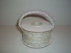 Tinsel Wired Ribbon Christmas Decoration Ribbon Gift Wrapping Ribbon (White/Iridescent) -- See this great product.
