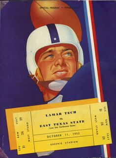 Game Program - Lamar Tech vs East Texas State 1952