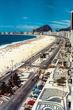 Roberto BURLE MARX sidewalks in Copacabana Beach - Rio de Janeiro - Brasil