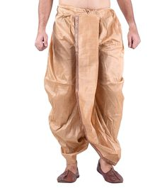 #Beige #Silk #Blend #Embroidered #Dhoti at #Indianroots