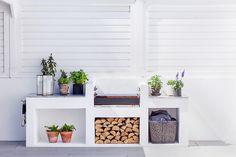 Small Patio Design, Outdoor Kitchen Design, Pergola, Outdoor Stove, Sloped Garden, Small Backyard Gardens, Diy Patio, Outdoor Living, Diy Home Decor