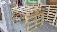 Fast Comfortable Pallet Garden Lounger Set