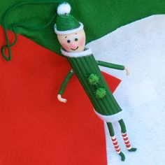 pasta elf | 10 Easy Christmas Ornaments for Kids to make with pasta | Pasta art for kids how to make christmas decorations homemade crafts for christmas Coloured pasta art & craft christmas ornaments to make #ChristmasCrafts #Age5 7