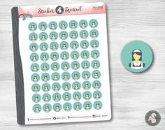 House Cleaning Planner Stickers - clean home maid service spring planning kitchen organization living room calendar eclp decals SC.HOCL.0517 by StickerSquirrel on Etsy