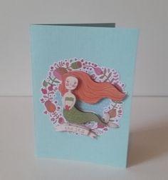 Mermaid card door Hippiewildflower op Etsy