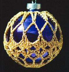 Crochet Christmas Ornament Covers