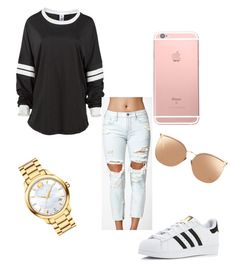 """Untitled #73"" by qqueeen on Polyvore featuring Kendall + Kylie, adidas, Linda Farrow, Movado, men's fashion and menswear"