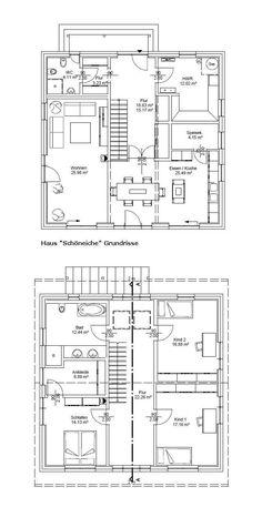 Skandinavisches haus grundriss  Zweifamilienhaus mit Flachdach Grundriss Obergeschoss - Haus ...