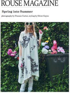 Rouse Magazine  Fashion Editorial featuring Shen's Silk Leggings.