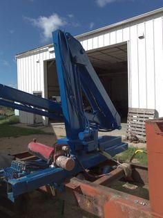 KNUCKLE BOOM LOADER used - for trailer or work barge - log grapple ...