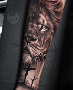 Top Tattoos, Head Tattoos, Tattoos For Guys, Lion Tattoo Sleeves, Sleeve Tattoos, Tatoo Art, Big Tattoo, Tattoo Magazine, Jesus Tattoo