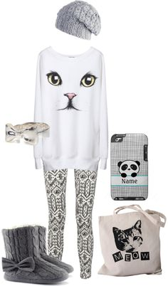 """""""Kitty Cat (: MEOWW"""" by kronic245 ❤ liked on Polyvore"""
