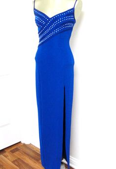 Vintage TADASHI Formal BodyCon Dress w/ RHINESTONES ~ Gosh I NEED this: my colour and to die for!