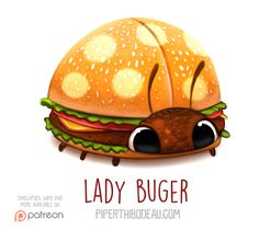 Daily+Paint+1566.+Lady+Buger+by+Cryptid-Creations.deviantart.com+on+@DeviantArt