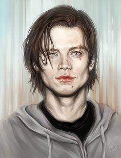 Sebastian Stan by Allantiee Fan Art / Digital Art / Painting & Airbrushing / Movies & TV©2014 Allantiee