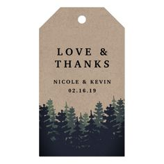 Wedding Forest Thank You Gift Tag
