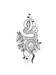 - - - – – -You can find Tattoo drawings and more on our website. Mini Tattoos, Flower Tattoos, Body Art Tattoos, New Tattoos, Small Tattoos, Snake And Flowers Tattoo, Tatoos, Friend Tattoos, Piercings