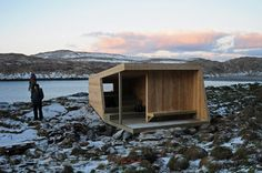 www.biotope.no: The Hornøya wind shelter and birdhide