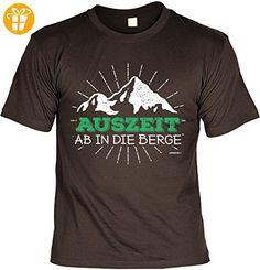 Wander T-Shirt Auszeit - Ab in die Berge Kletter Bergsteiger Shirt 4 Heroes Geburtstag Geschenk geil bedruckt (*Partner-Link)