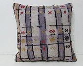 20x20 kilim decorative pillow case throw accent bohemian pillow pillow cover cushion ethnic rug Turkish outdoor sofa decor floor boho 27924