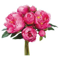 Silk Peony Wedding Bouquet in Hot Pink | Wedding Flowers | Afloral.com
