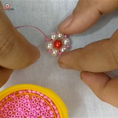 Amazing pearl border design work – The World Bead Embroidery Tutorial, Hand Embroidery Videos, Bead Embroidery Patterns, Hand Embroidery Flowers, Flower Embroidery Designs, Creative Embroidery, Bead Embroidery Jewelry, Hand Embroidery Stitches, Silk Ribbon Embroidery