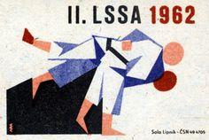 II. LSSA 1962. 7/15. Czechoslovak matchbox label.