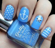 Nautical nail art tutorial perfect for summer!
