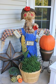 Cute scarecrow - easy instructions on how to make your own!