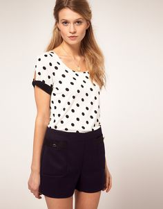 Oasis Spot T-Shirt With Bow  $35.81