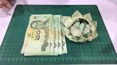 พับดอกบัวจากธนบัตร origami money lotus
