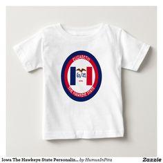 Iowa The Hawkeye State Personalized Flag Tee Shirts