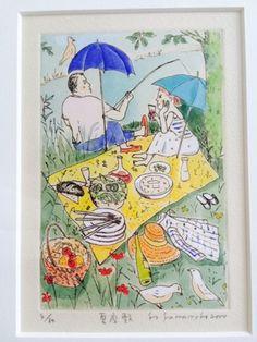 山本容子さんの銅版画『夏座敷』 - ハルジオン日記