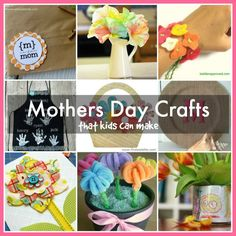 pretty mothers day crafts for kids featured at @Mena @ Kids Love This Stuff!