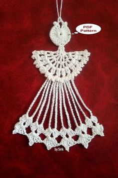 Best 12 Knitting Patterns Christmas Photo only – Page 595249275724076293 – SkillOfKing. Crochet Christmas Ornaments, Crochet Snowflakes, Handmade Ornaments, Handmade Decorations, Christmas Angels, Christmas Crafts, Crochet Angel Pattern, Crochet Angels, Crochet Cross