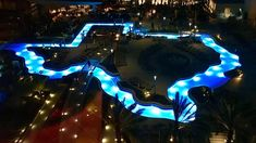 Marriott Marqui in Downtown Houston Texas. The first ever Texas-shaped lazy river, like everything else that is state-shaped, is truly a beauty to behold, and we can't wait to lounge in its luxury! Texas Vacations, Dream Vacations, Family Vacations, Cruise Vacation, Disney Cruise, Lazy River Pool, Texas Bucket List, Corpus Christi Texas, Dallas Texas